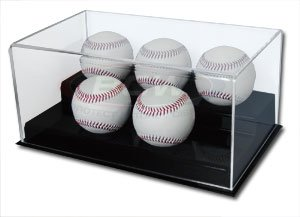 (BCW 1-AD12-5 Acrylic 5 Baseball Display)