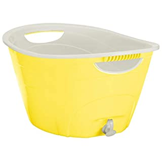 CreativeWare, Yellow Double Walled Party Tub With Drain Plug 4.375 Gl, 4.375 Gallon