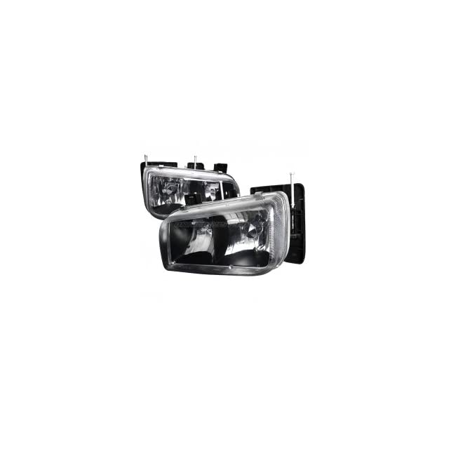 Cadillac Escalade 1999 2000 Euro Headlights   Black Housing