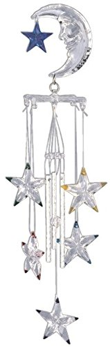 StealStreet Wind Chime Acrylic Moon Star Hanging Garden Decoration Collection (Garden Collection Star)
