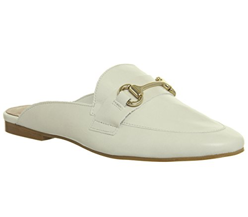 Office Loafer Groucho Fondness White Leather Mule rEwnrqI4W