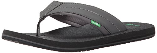 - Sanuk Men's Beer Cozy 2 Flip-Flop, Charcoal, 06 M US