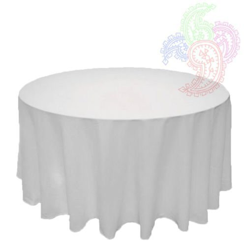 Pleasant White Round Tablecloth Linen Banquet Poly Seamless Table Cloth All Sizes Available 108 Inch Beutiful Home Inspiration Ommitmahrainfo