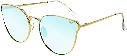 Quay Women's All My Love Sunglasses, Gold/Blue, One - Sunglasses Australia Surf