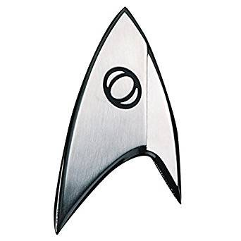 Quantum Mechanix Abysse Corp_BIJQMX002 Star Trek - Insignia Badge: Sciences, Multi -
