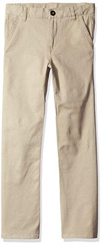 Dockers Big Boys' Uniform 5 Pocket Stretch Pant, Khaki, 08