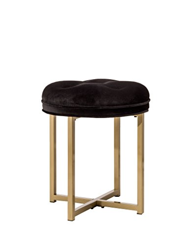 Hillsdale 51014 Maura Backless Vanity Stool, Black by Hillsdale