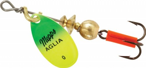 Mepps Aglia Size 0 Hot Green/Chartreuse by Mepp's