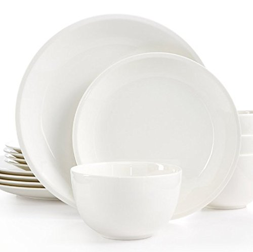Martha Stewart Collection 12-Pc. Mercer Coupe Dinnerware Set - White (Dinnerware Martha Stewart)