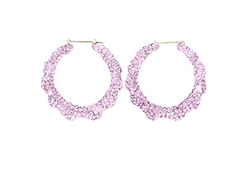 Swarovski Crystal Bamboo Hoop Earrings, Customed Swarovski Hoops, Insta Baddie Hoop Earrings, All Glam Earrings, Rihanna Earrings ()