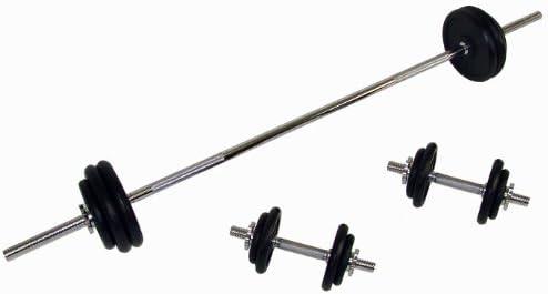 Confidence - Juego de mancuernas y barras de pesas fitness (50 kg ...