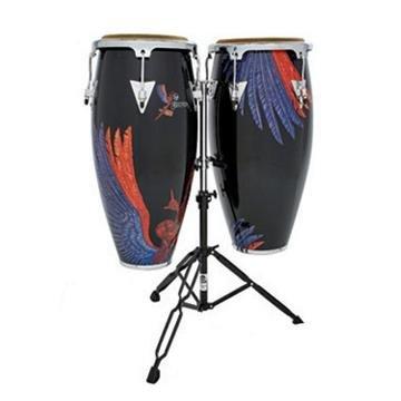 Latin Percussion Aspire Santana Abraxas Angel Wood Conga Set, 10-inch and 11-inch