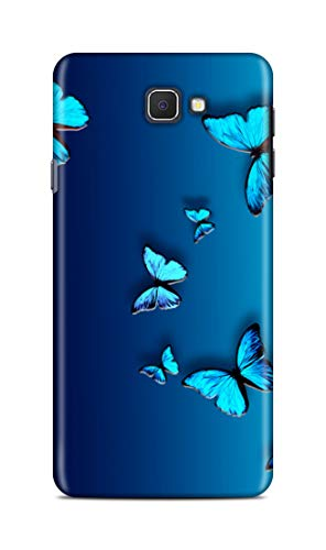Shengshou Butterfly Design Mobile Back Cover For Samsung Galaxy J7 Prime   Blue   Multi Coloured; Blue