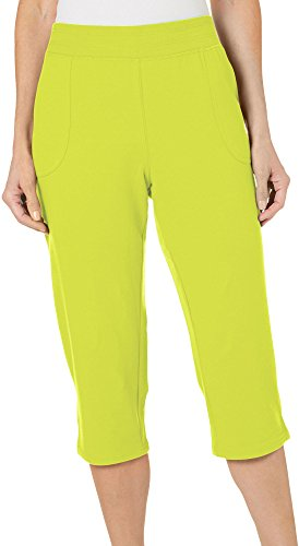 Lime Green Capri Pants (SunBay Womens Solid Pull On Capris Small Lime Punch Green)