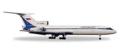 HE557931 Herpa Wings Aeroflot TU154B-2 1:200 90's Model Airplane