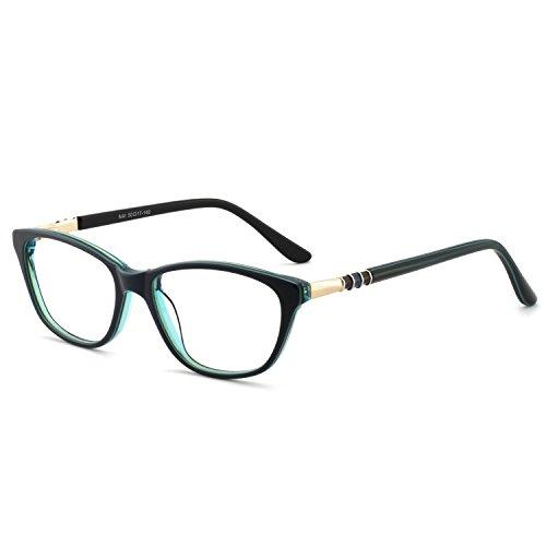 - OCCI CHIARI Women Casual Eyewear Frames Non-Prescription Clear Lenses Eyeglasses (A-Blue)
