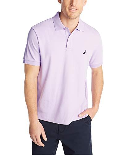 Nautica Men's Classic Fit Short Sleeve Solid Soft Cotton Polo Shirt, Lavendula, XX-Large ()