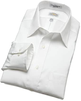 "Eagle Men's Non Iron Regular Fit Solid Point Collar Dress Shirt, White, 15"" Neck 32""-33"" Sleeve"
