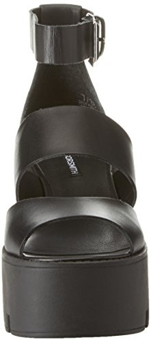 Windsor Smith Damen Puffy Plateausandalen Nero (Black Leather)