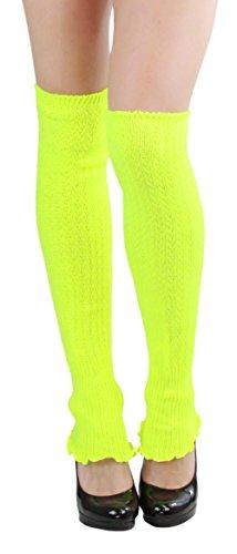 ToBeInStye Women's Ribbed Acrylic Footless Leg Warmers Color: