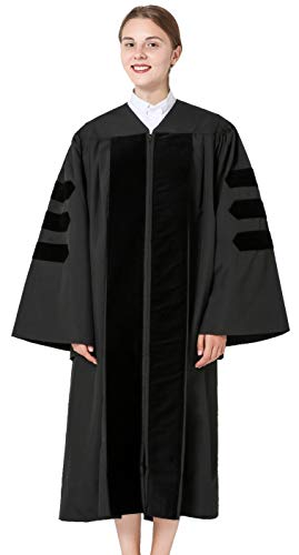 GraduationMall Classic Doctoral Graduation Gown 54(5'9