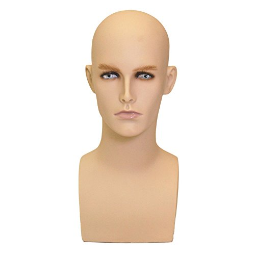 Realistic Face Male Mannequin Head by Roxy Display (ERAF2-MD) -