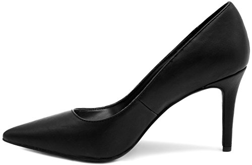 Mari A Womens Felicia Stiletto Heel Pointed Toe Pump Dress Shoe Sandal Black FZPEQnw7