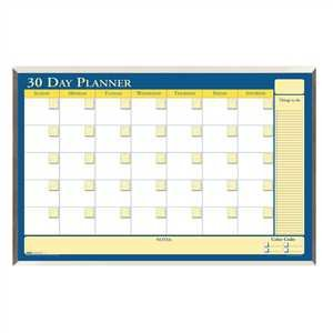 (Bulk Non Dated Aluminum Framed Planners, Recycled 30 Day Planners: HOD 6661 (3 Desk Planners))