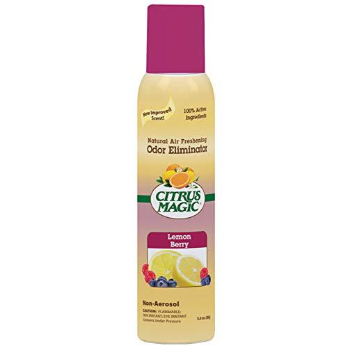 Citrus Magic Natural Odor Eliminating Air Freshener Spray, Lemon Raspberry, 3-Ounce