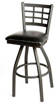Miraculous Amazon Com Oak Street Swivel Bar Stool Metal Window Pane Short Links Chair Design For Home Short Linksinfo