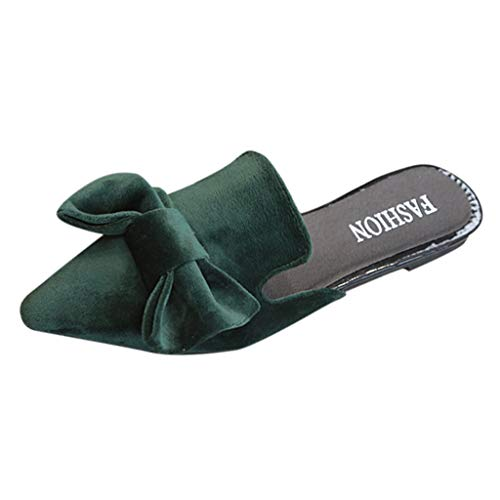 ASERTYL Spring Women's Sequin Slippers Bow Casual Shoes Flat Sandals Wild Single Shoes Wild Ladies - Red Wing Boots Metatarsal