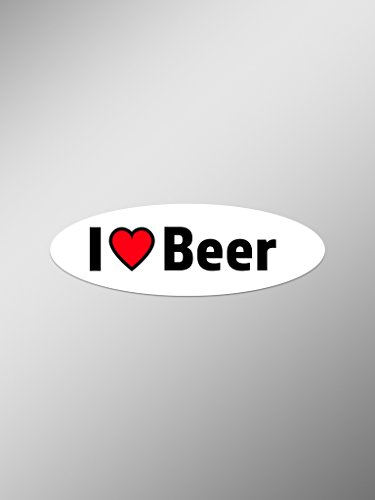 I Love Beer Vinyl Decals Stickers (Two Pack) | Cars Trucks Vans Windows Walls Laptop Cups | Printed | 2-5.5 Inch Decals | ()