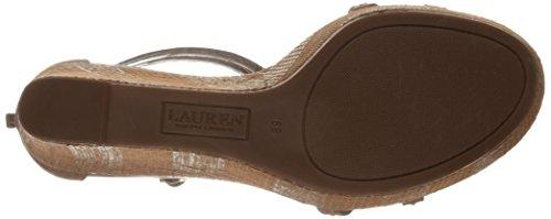 Lauren Ralph Lauren de la mujer QUANITA sandalias de cuña Polo Tan