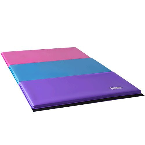 "Purple 8ft 12 18"" Adjustable Suede Balance Beam 6ft Pastel Gymnastics Mat"