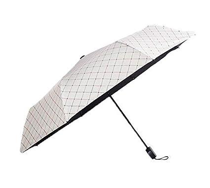 Paraguas, Paraguas Plegable Anti-Ultravioleta A Prueba de Viento Irrompible Compacto Ligero y pequeño