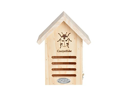 Esschert Design WA37 Ladybug House with Line Drawing