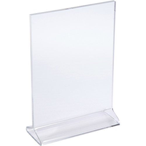 Elite Display Thick Acrylic Picture Frames 5x7, Clear Plastic Photo Frames, Sign Holders, Menu Holders, Display Stands (6-pack) by Elite Display USA