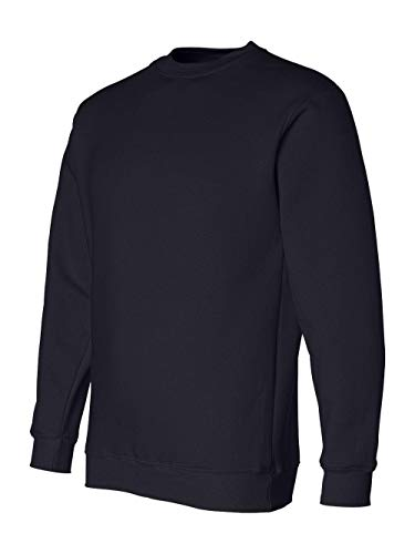 Bayside Men's Heavyweight Crewneck Rib Knit Sweatshirt, Navy, Xx-Large (Knit Pullover Rib)