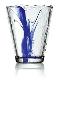 Bormioli Rocco Murano 14.25 Oz Cobalt Blue Beverage Glass, Set of 4