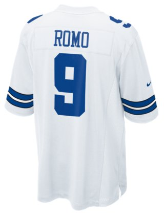 b64364636 Amazon.com   NIKE NFL Dallas Cowboys Tono Romo Jersey White X-Large ...