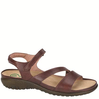 Naot Women's Etera Wedge Sandal,Luggage Brown Leather,39 EU/7.5-8 M US (Removable Footbed)