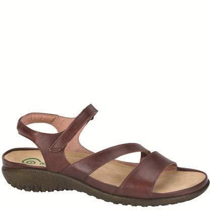 Naot Women's Etera Wedge Sandal,Luggage Brown Leather,39 EU/7.5-8 M US