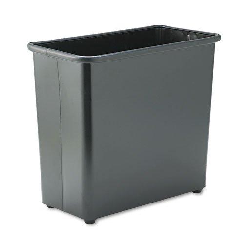 Safco - Fire-Safe Wastebasket, Rectangular, Steel, 27.5qt, Black 9616BL (DMi EA