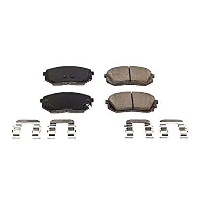 Power Stop 17-1826, Z17 Front Ceramic Brake Pads with Hardware: Automotive