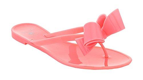 Étourdissement Femmes Style Salon Mode Gelée Flip Flops Pêche