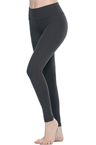 Yoga Activewear (Women Power Flex Yoga Pants Workout Running Leggings - All Colors Charcoal L)