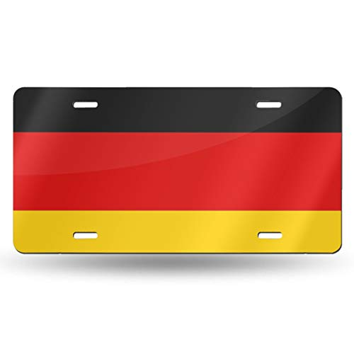 - Jeepmother National Flag of Germany 612inchs Feel Metal Tin Sign Plaque for Home,Bathroom and Bar Wall Decor Car Vehicle License Plate Souvenir Car Decoration