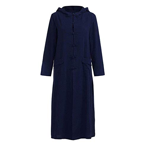 Elgante BIRAN Coat Capuchon Longues Dsinvolte Automne Boutonnage Blau Trench Femme Simple Outerwear Printemps Unicolore Manteau Parker Mode Longues breal Vintage Manches 0rYPT0BW