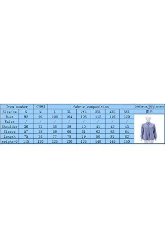 De Printemps Blue2 Et Bandes du Taille Coton La Occasionnels Les Automne Maximum Bn7Rw8