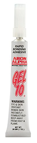 Aron Alpha Gel 10-Industrial Krazy Glue (20g Kit with 12 Tips)-Thick No-Drip Gel-Fast Set Instant Adhesive Super Glue by Aron Alpha Industrial Krazy Glue (Image #2)
